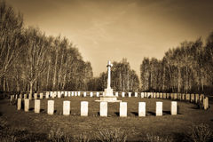 War Cemetery in Flanders Royalty Free Stock Photos
