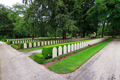 War cemetery Grebbeberg Stock Photos