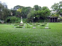 War Cemetery Guwahati. The War Cemetery at Guwahati, Assam at Silpukhuri area maintained by British Commonwealth War Graves Commission. It is spot of greenery Stock Image