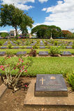 War cemetery of Kanchanaburi in Thailand Stock Image