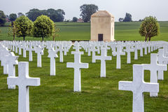 War Cemetery - La Somme - France. The American Cemetery in the Vallee de la Somme in the Le Nord & Picardy region of France. The Battle of the Somme took place stock photography