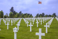 American War Cemetery - La Somme - France Stock Photo