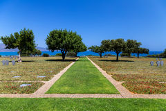 War cemetery, Maleme, Crete. German war cemetery near Maleme, Crete Royalty Free Stock Image