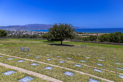 War cemetery, Maleme, Crete. German war cemetery near Maleme, Crete Stock Image