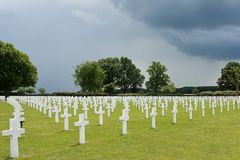 War cemetery Margraten royalty free stock images