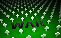 War cemetery memorial. 3D concept Stock Image