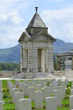 War Cemetery Memorial. A Memorial located at the War Cemetery, Monte Cassino, Italy stock image