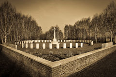 War Cemetery near Ypers Royalty Free Stock Photography
