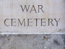 War Cemetery Plaque Stock Photography
