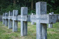A war cemetery in Sinaia. royalty free stock photography