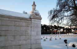 War cemetery in snow Stock Photography