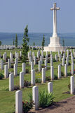 War Cemetery - The Somme - France. The Australian Cemetery in the Vallee de la Somme in the Le Nord & Picardy region of France. The Battle of the Somme took royalty free stock photos