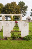 War cemetry at Bazenville, Normandy, France Royalty Free Stock Image