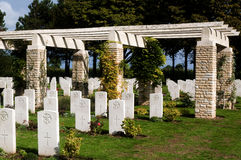War cemetry at Bazenville in Normandy,, France Royalty Free Stock Images
