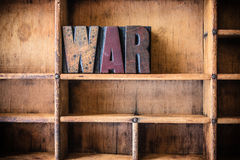 War Concept Wooden Letterpress Theme Royalty Free Stock Photo
