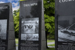 War and Conflict memorials in Nashville Tennessee USA. Tennessee memorial sculptures and fountain to those involved in worldwide conflicts in park in Nashville Stock Images