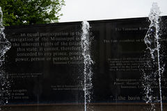 War and Conflict memorials in Nashville Tennessee USA. Tennessee memorial sculptures and fountain to those involved in worldwide conflicts in park in Nashville Stock Photography