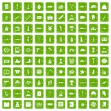 100 war crimes icons set grunge green. 100 war crimes icons set in grunge style green color isolated on white background vector illustration Royalty Free Stock Photo
