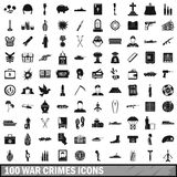 100 war crimes icons set, simple style. 100 war crimes icons set in simple style for any design vector illustration Stock Photo