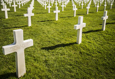 War Crosses in Normandy Royalty Free Stock Photo