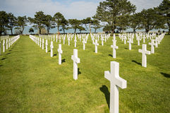 War Crosses in Normandy Royalty Free Stock Images