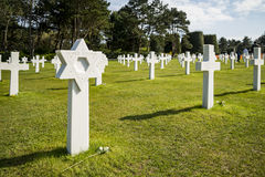 War Crosses in Normandy Royalty Free Stock Image