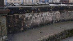 War damage in Berlin, Germany on Monbijoubrucke bridge stock image