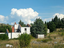 War damaged house in Bosnia from Serb forces Royalty Free Stock Photography