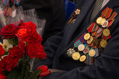 The war decorations deserved by the veteran of the Great Patriotic War of 1941-1945 Stock Photography