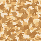 War desert camouflage seamless vector pattern Stock Image
