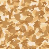 War desert camouflage seamless vector pattern Stock Image