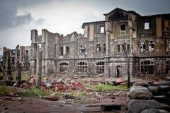 War devastation fear Russia, scenery, wet, dirty, Royalty Free Stock Photo