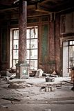 War devastation fear Russia, scenery, wet, dirty, home town Royalty Free Stock Photography