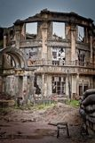 War devastation fear , scenery, wet, dirty, home town Stock Images