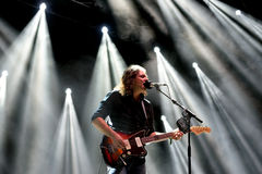 The War on Drugs band in concert at Vida Festival. BARCELONA - JUL 3: The War on Drugs band in concert at Vida Festival on July 3, 2015 in Barcelona, Spain Stock Images