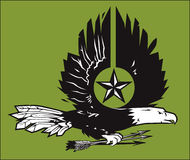 War Eagle Woodcut Royalty Free Stock Images