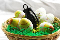 War easter nest Royalty Free Stock Photo