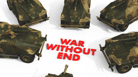 War Without End. Digital rendering of a war concept Stock Photos