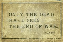 War end Plato Royalty Free Stock Photography