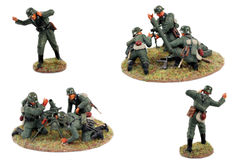 War game miniatures WWII, german soldiers. Painted figures,second world war miniatures Stock Photo