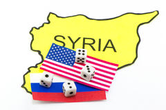 War Game US and Russia Stock Photography