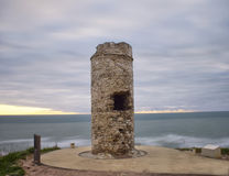 War Games. Watchtowers that filled the Atlantic coast to the defense of territory Royalty Free Stock Image