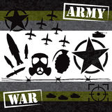 War graphic element design Stock Image