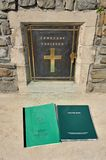 War grave visitors book Royalty Free Stock Photography