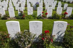 Free War Graves At Tyne Cot Cemetery In Belgium Royalty Free Stock Photo - 138572305