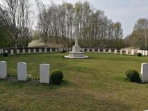 War graves from the first world war in Belgium in Ypres royalty free stock photography