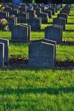 War-graves in a graveyard Stock Images