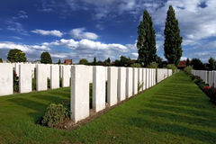 War Graves at Tyne Cot Stock Photography
