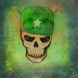 War grunge skull Royalty Free Stock Photography
