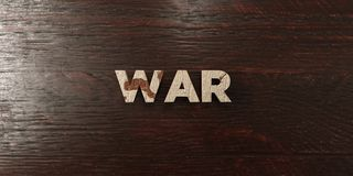 War - grungy wooden headline on Maple - 3D rendered royalty free stock image. This image can be used for an online website banner ad or a print postcard vector illustration